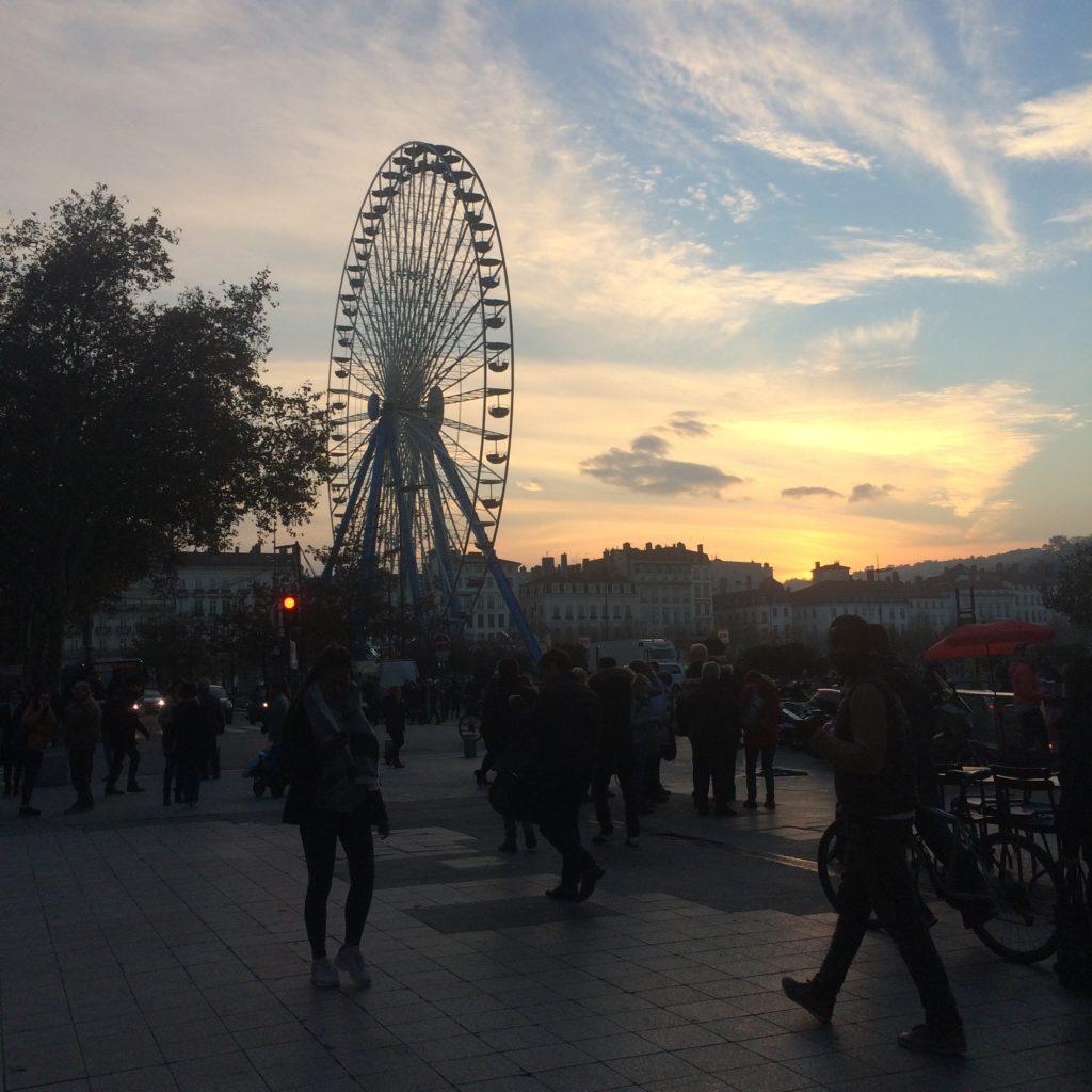 Lyon coucher de soleil